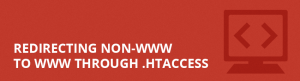 Redirecting non-www to www through .htaccess